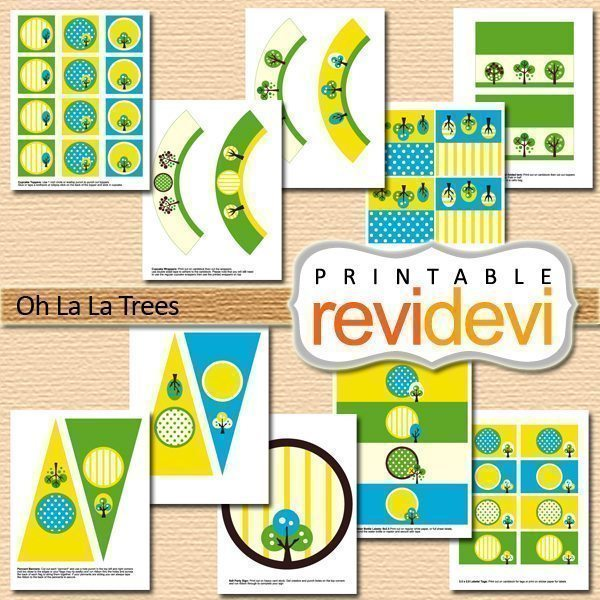 Oh La La Trees Party Printable  Revidevi    Mygrafico