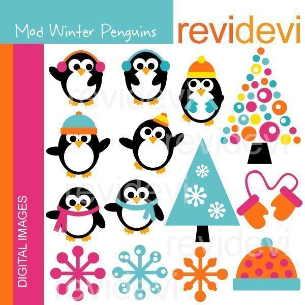 Mod Winter Penguins Clipart Revidevi    Mygrafico