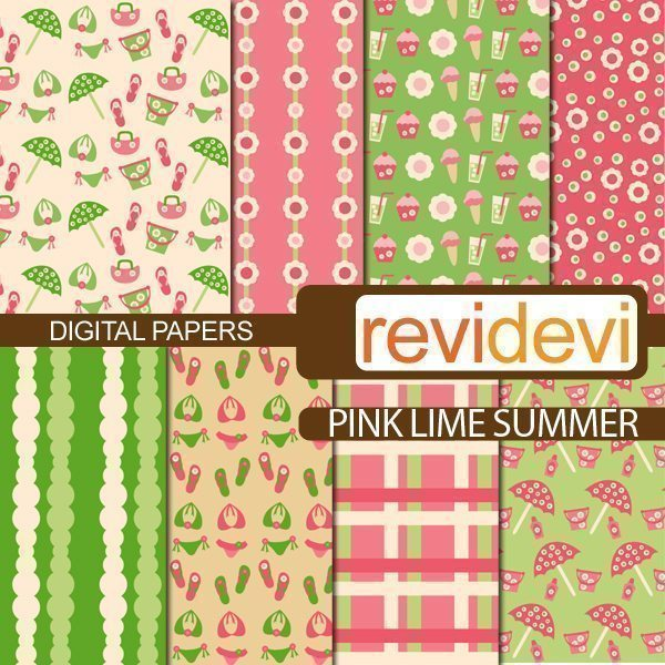 Pink Lime Summer Papers  Revidevi    Mygrafico