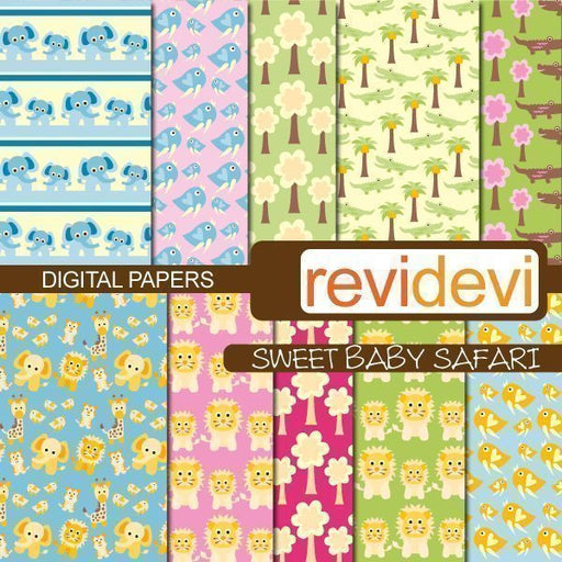 Sweet Baby Safari Papers  Revidevi    Mygrafico