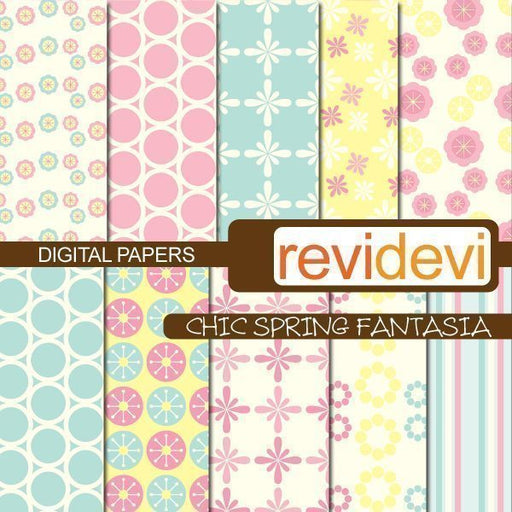 Chic Spring Fantasia Papers  Revidevi    Mygrafico