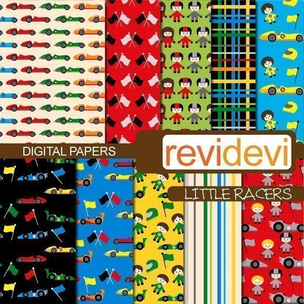 Little Racers Papers  Revidevi    Mygrafico