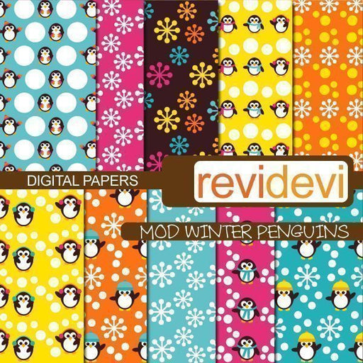 Mod Winter Penguins Papers  Revidevi    Mygrafico