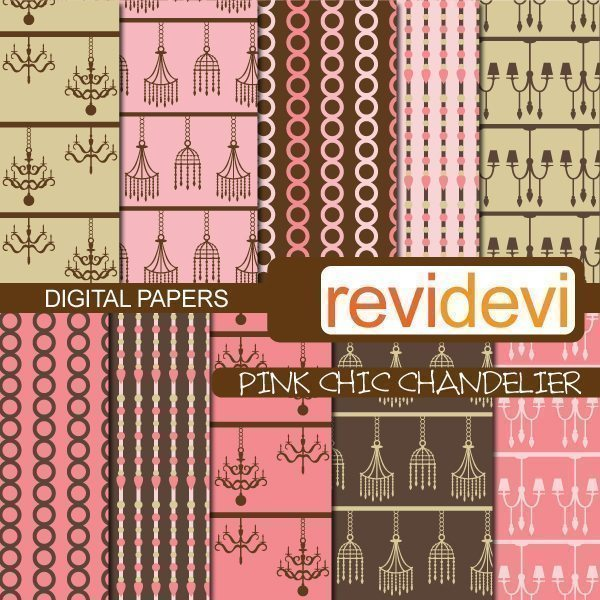 Pink Chic Chandelier Papers  Revidevi    Mygrafico