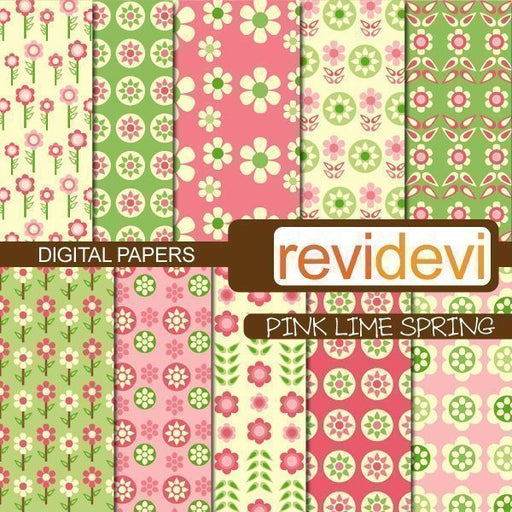 Pink Lime Spring Papers  Revidevi    Mygrafico