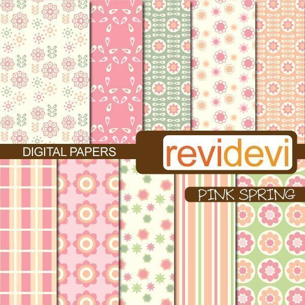 Pink Spring Papers  Revidevi    Mygrafico