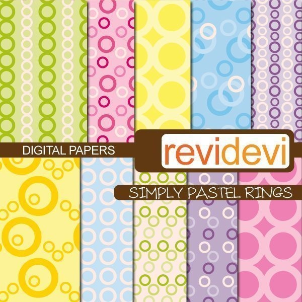Simply Pastel Rings Papers  Revidevi    Mygrafico