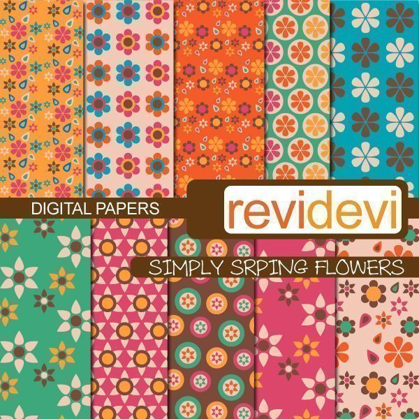 Simply Spring Flowers Papers  Revidevi    Mygrafico