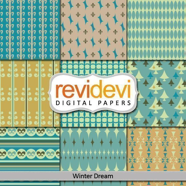 Winter Dream Digital Papers  Revidevi    Mygrafico