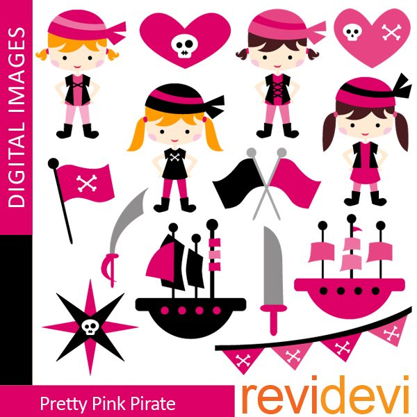 Pretty Pink Pirate Clipart  Revidevi    Mygrafico
