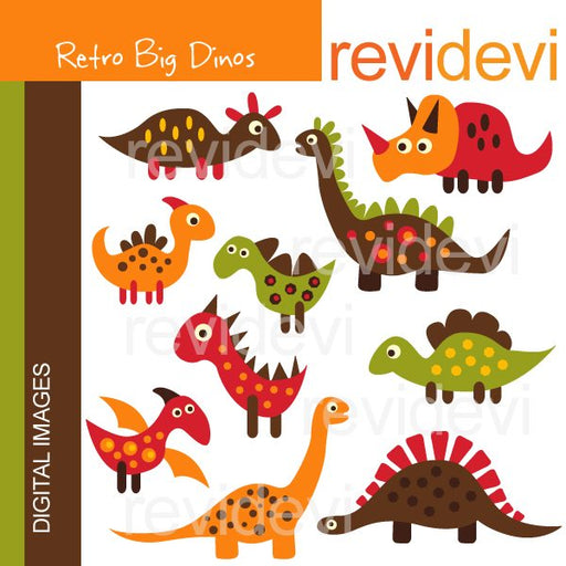 Retro Big Dinos  Revidevi    Mygrafico