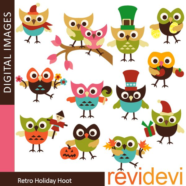 Retro Holiday Hoot  Revidevi    Mygrafico