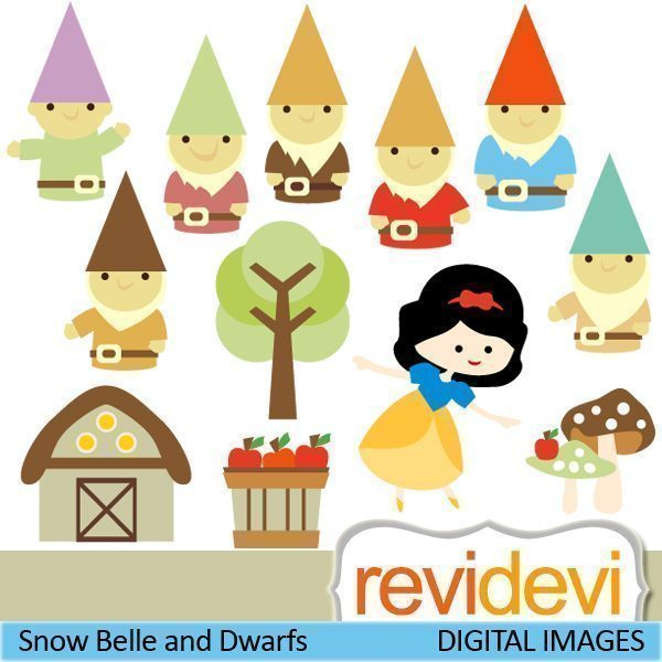 Snow Belle and Dwarfs  Revidevi    Mygrafico