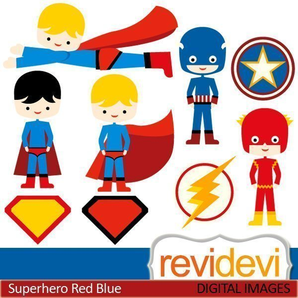 Superhero Red Blue  Revidevi    Mygrafico