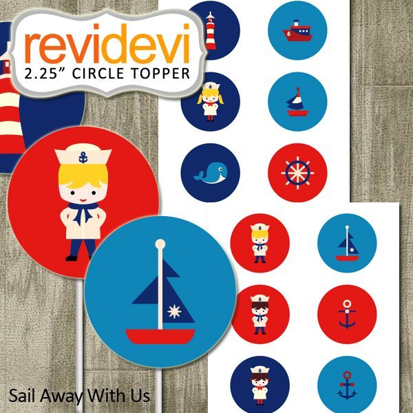 "Sail Away With Us 2.25"" Topper  Revidevi    Mygrafico"
