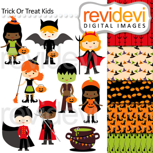 Trick Or Treat Kids Cliparts Revidevi    Mygrafico