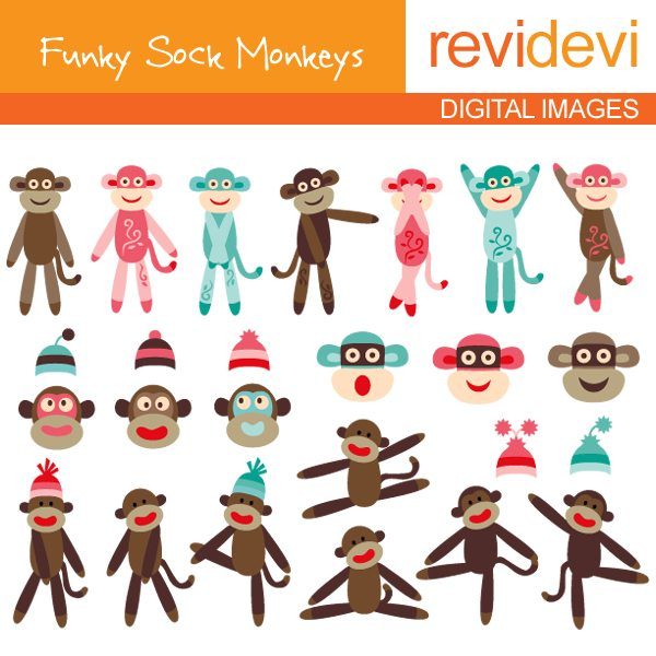 Funky Sock Monkeys  Revidevi    Mygrafico