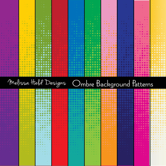 Ombre Background Patterns Digital Paper & Backgrounds Melissa Held Designs    Mygrafico