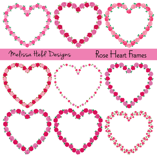 Rose Heart Frames Clipart Cliparts Melissa Held Designs    Mygrafico