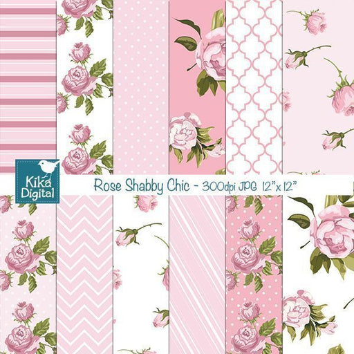 Rose Shabby Chic Papers