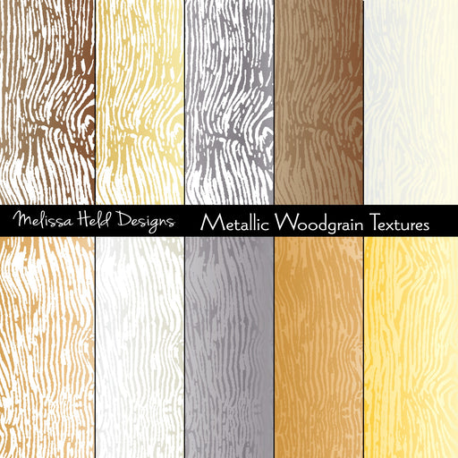 Metallic Wood Grain Textures Digital Paper & Backgrounds Melissa Held Designs    Mygrafico