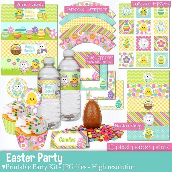Easter Party Printable Templates  Pixel Paper Prints    Mygrafico