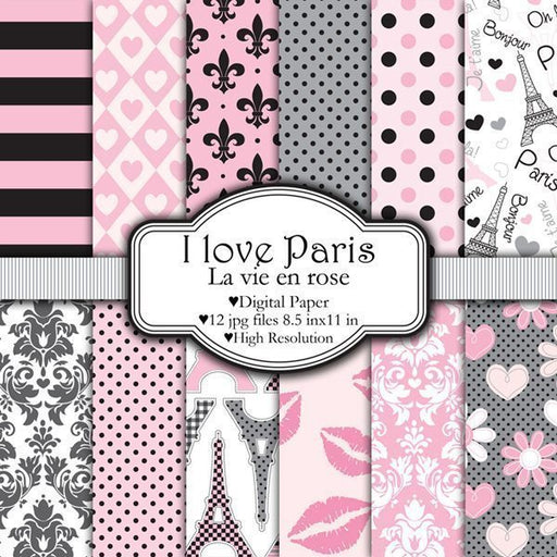 I love Paris - La vie en rose  Pixel Paper Prints    Mygrafico