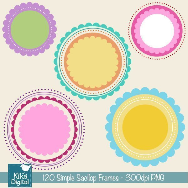 Basic Scallop Frames  Kika Digital    Mygrafico