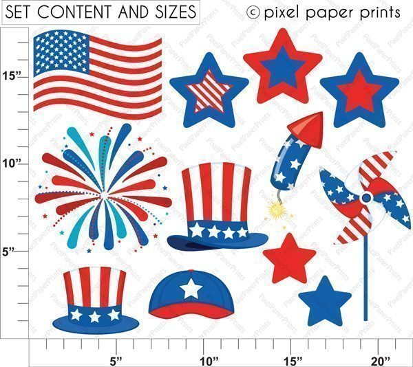 American Boys - 4th of July  Pixel Paper Prints    Mygrafico