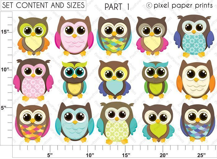 Brown Owls Clipart & Digital Papers  Pixel Paper Prints    Mygrafico