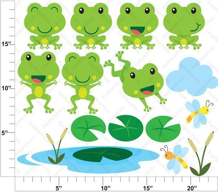 Friendly Frog  Pixel Paper Prints    Mygrafico