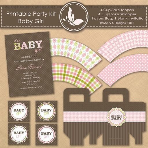 Printable Party Kit - Baby Girl  Shery K Designs    Mygrafico