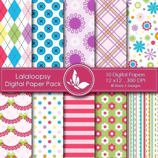 Lalaloobsy - 10 Digital papers  Shery K Designs    Mygrafico