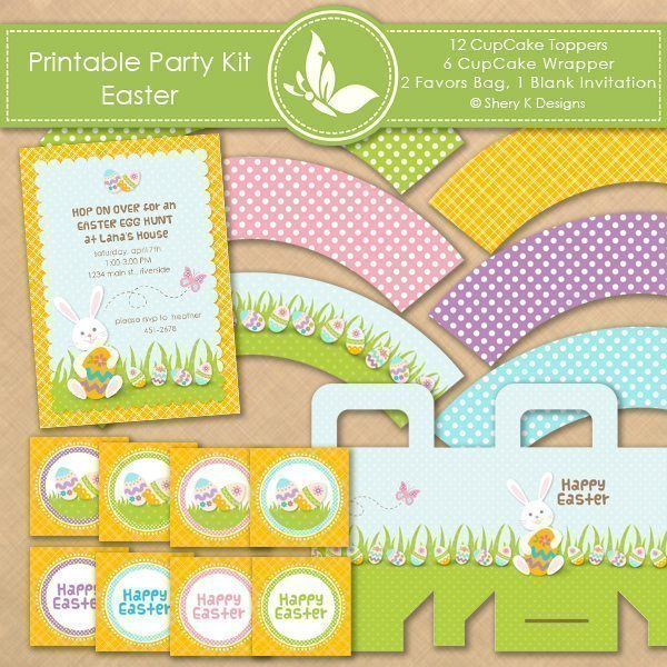 Printable Party Kit - Easter  Shery K Designs    Mygrafico