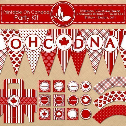 Printable OH CANADA Party Kit  Shery K Designs    Mygrafico