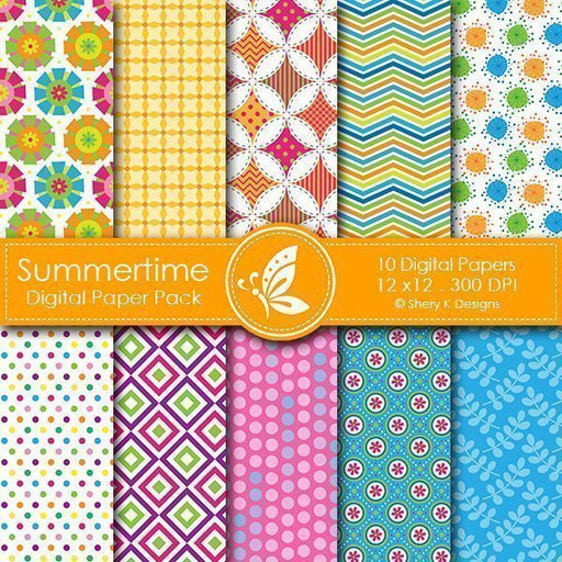 Summertime Digital papers  Shery K Designs    Mygrafico