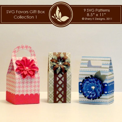 SVG Favors Gift Box Collection 1  Shery K Designs    Mygrafico