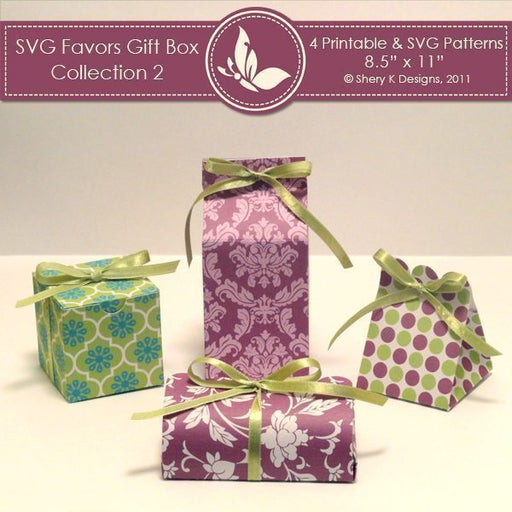 SVG & Printable Favors Gift Box Collection 2  Shery K Designs    Mygrafico