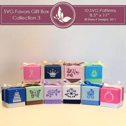 SVG Favors Gift Box Collection 3  Shery K Designs    Mygrafico