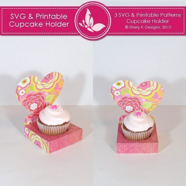 SVG & Printable Cupcake Holder
