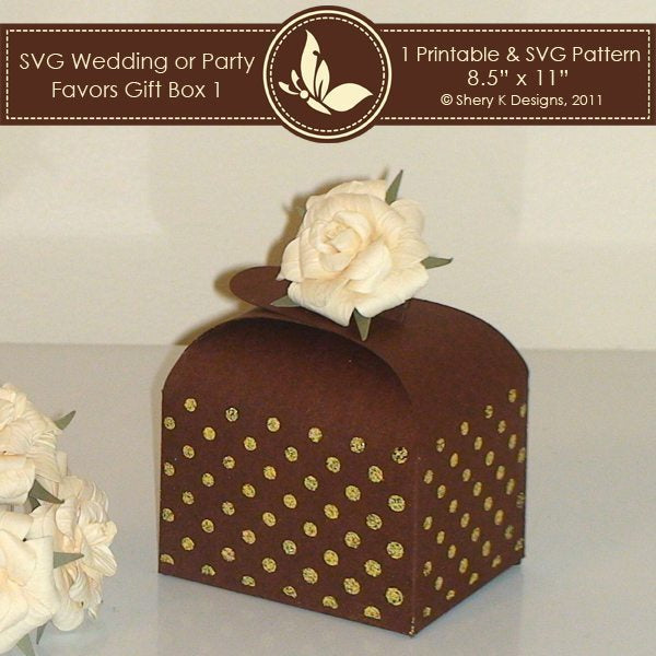 SVG wedding or party favors gift box 001  Shery K Designs    Mygrafico