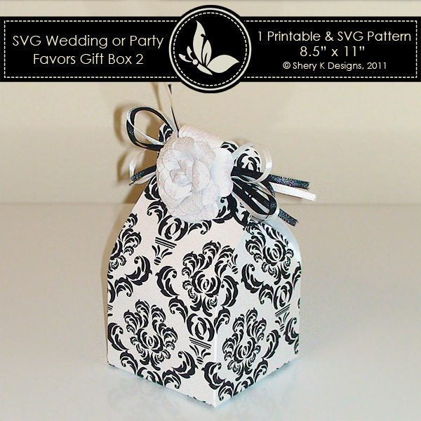 SVG wedding or party favors gift box 002  Shery K Designs    Mygrafico