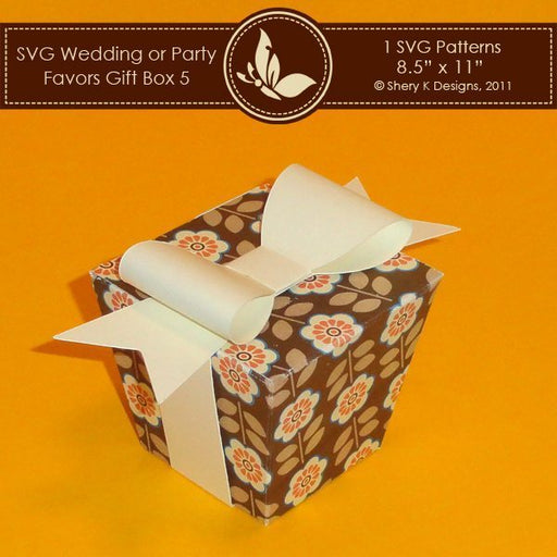 SVG Favors Gift Box 005 with Bow  Shery K Designs    Mygrafico