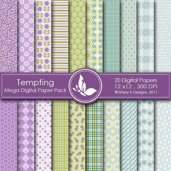 Tempting - 20 Digital papers  Shery K Designs    Mygrafico