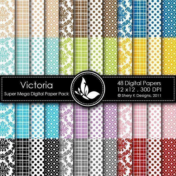 Victoria - 48 Digital papers  Shery K Designs    Mygrafico