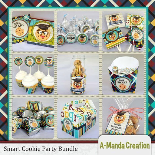 Smart Cookie Graduation Party Printable Bundle  A-Manda Creation    Mygrafico