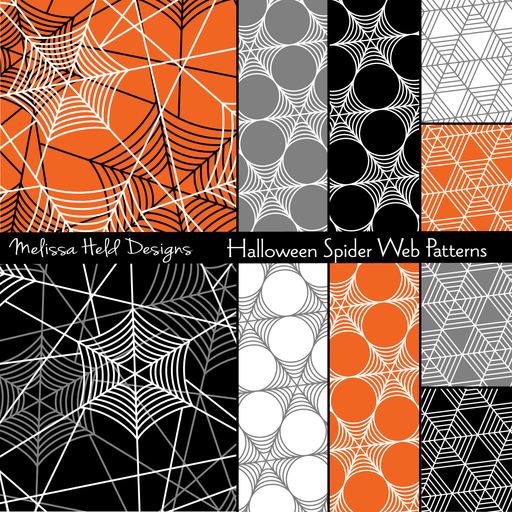 Halloween Spider Web Patterns Digital Papers & Background Melissa Held Designs    Mygrafico