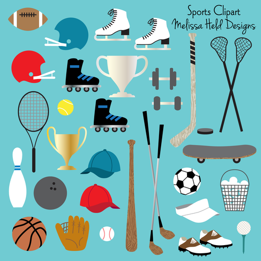 Sports Clipart Clipart & Digital Paper Melissa Held Designs    Mygrafico