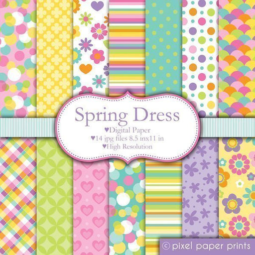 Spring Dress  Pixel Paper Prints    Mygrafico