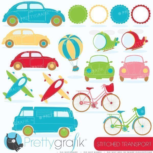 Stitched transport Clipart